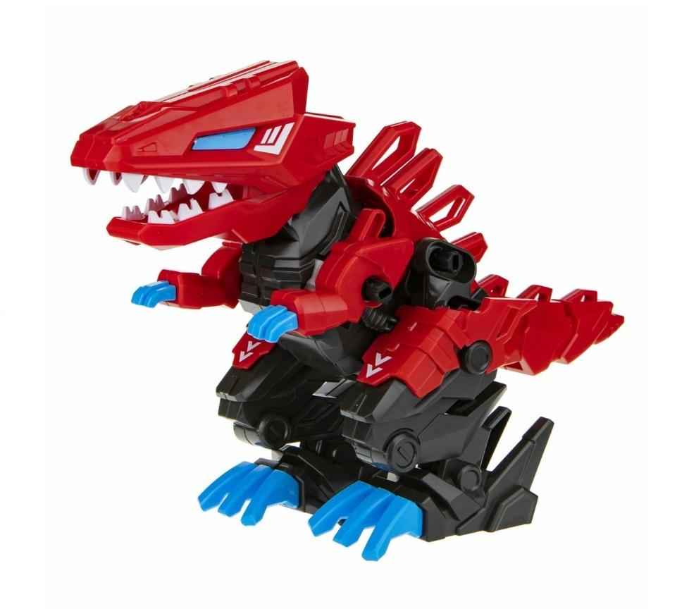Сборная модель RoboLife - Робо-тираннозавр, красный, 47 деталей, движение, звук 1TOY