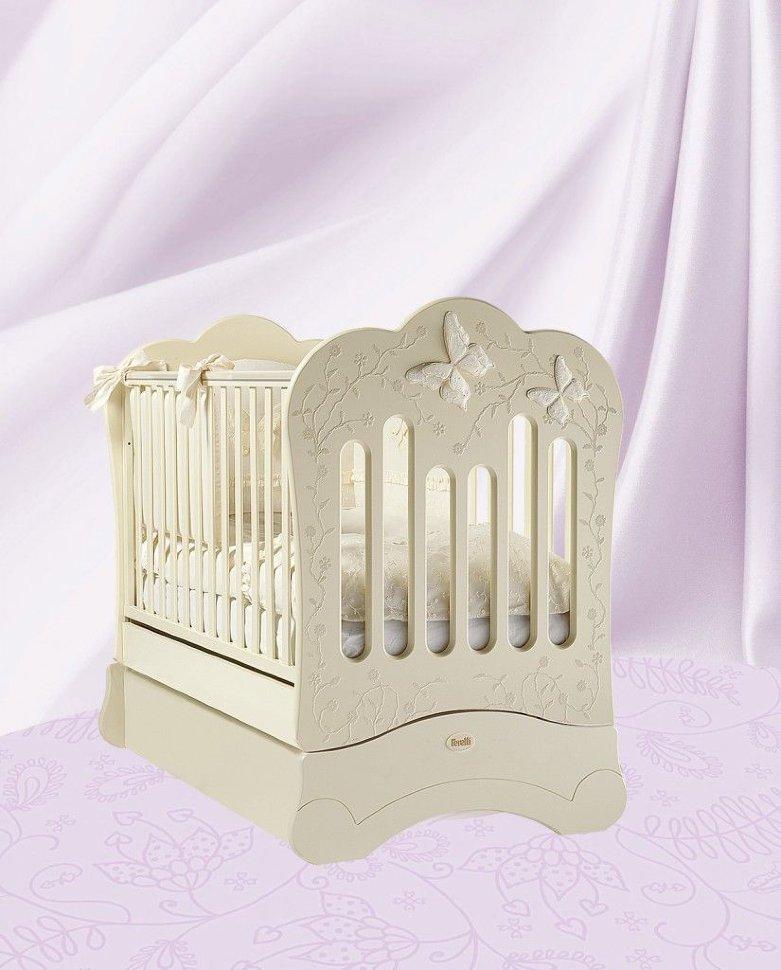 Кровать детская Fms Charme AvorioДетские кровати и мягкая мебель<br>Кровать детская Fms Charme Avorio<br>