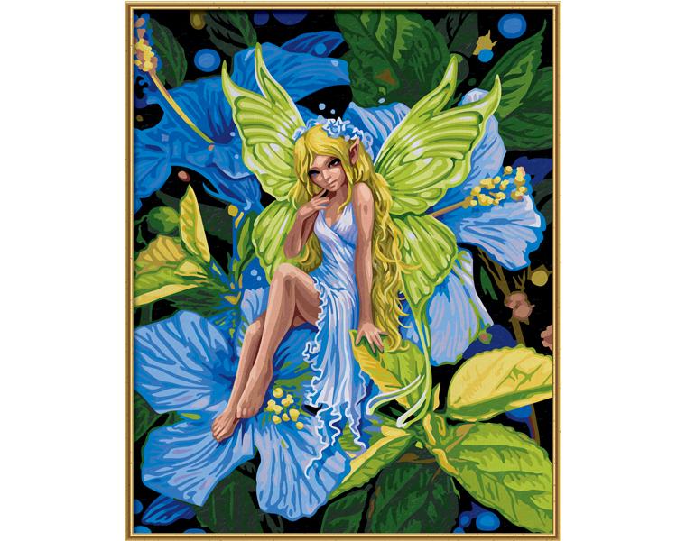 Картина, раскраска по номерам - Цветочный эльфРаскраски по номерам Schipper<br>Картина, раскраска по номерам - Цветочный эльф<br>