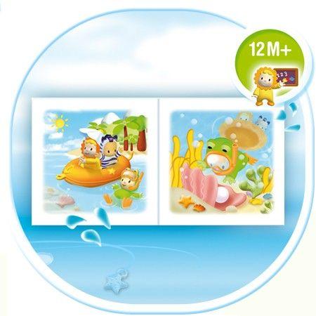 Мягкая развивающая книжечка для ванныИгрушки для ванной<br>Мягкая книжка для игр в воде малышам в возрасте от 12 месяцев...<br>