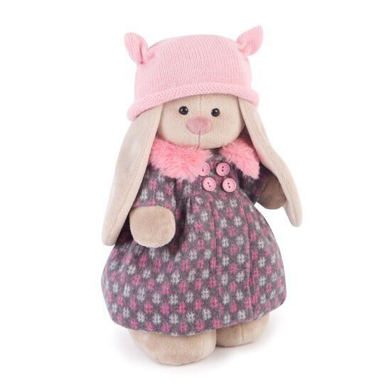 Мягкая игрушка – Зайка Ми в пальто и розовой шапке, большой фото
