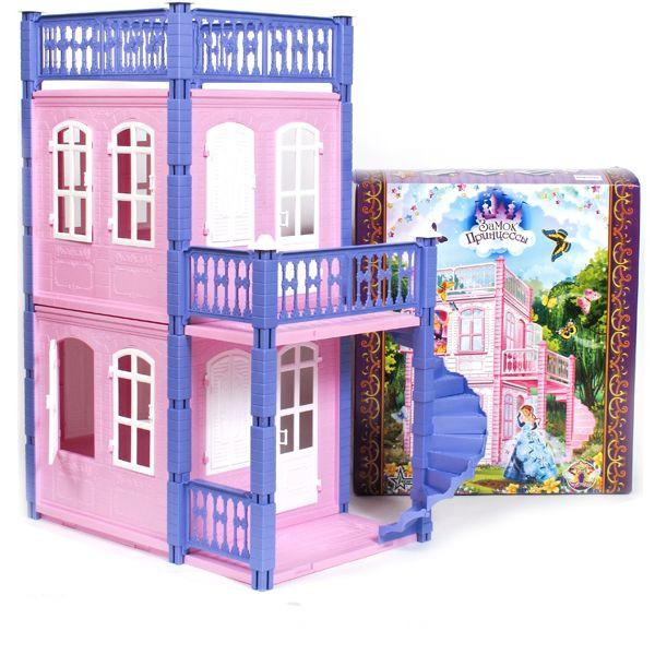 Домик для кукол - Замок принцессы, розовый, 2 этажаКукольные домики<br>Домик для кукол - Замок принцессы, розовый, 2 этажа<br>