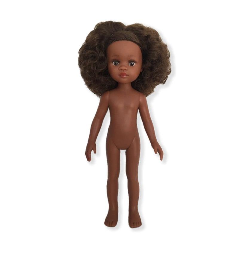 Купить Кукла Нора без одежды, 32 см, волосы кудрявые, глаза коричневые, Paola Reina