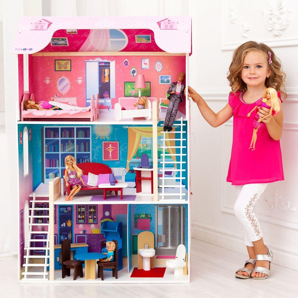 Кукольный домик для Барби – Вдохновение, 16 предметов мебели, 2 лестницы фото