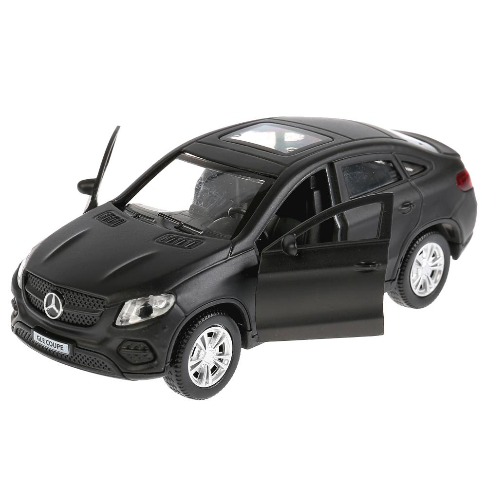 Купить со скидкой Металлическая инерционная модель – Mercedes-Benz GLE Coupe, матовый черный, 12 см, открываются двери