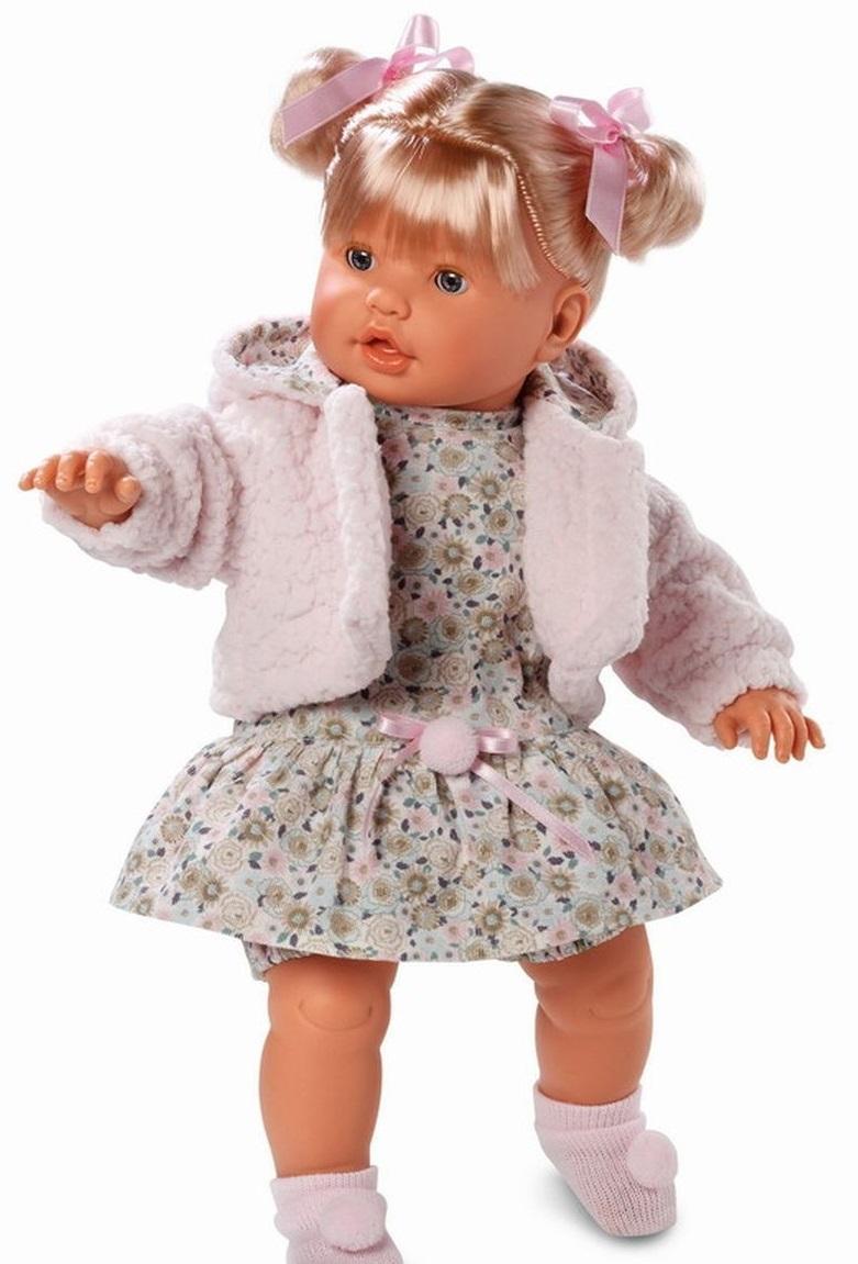 Кукла Бэбэ в розовой шубке, 48 см.Испанские куклы Llorens Juan, S.L.<br>Кукла Бэбэ в розовой шубке, 48 см.<br>