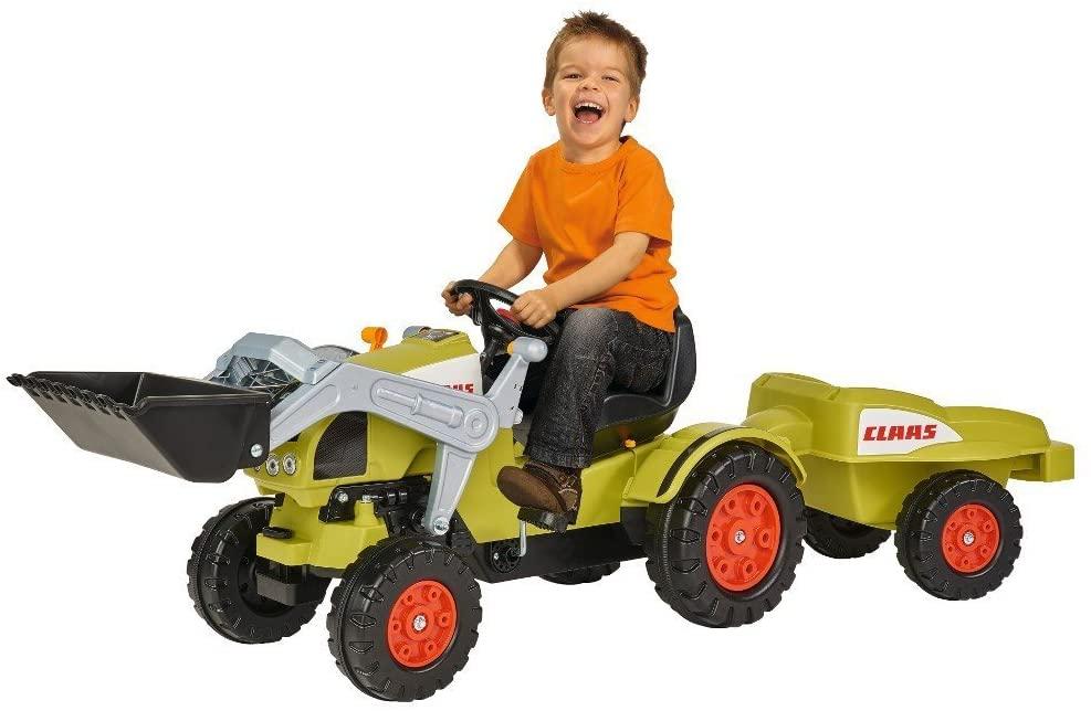 Детский педальный трактор погрузчик с прицепом Claas