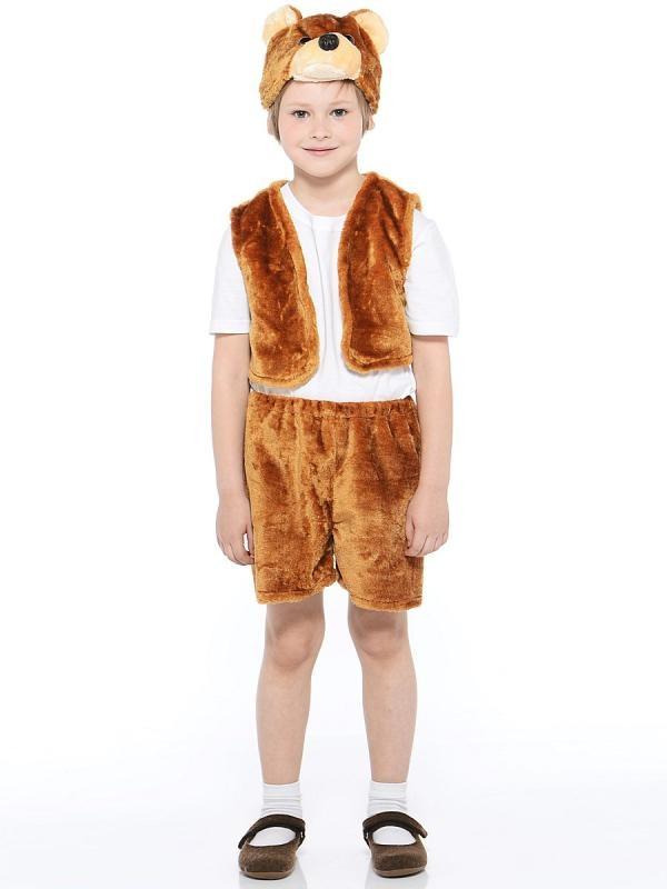 Костюм карнавальный детский – Медведь бурый, мех, размер 28