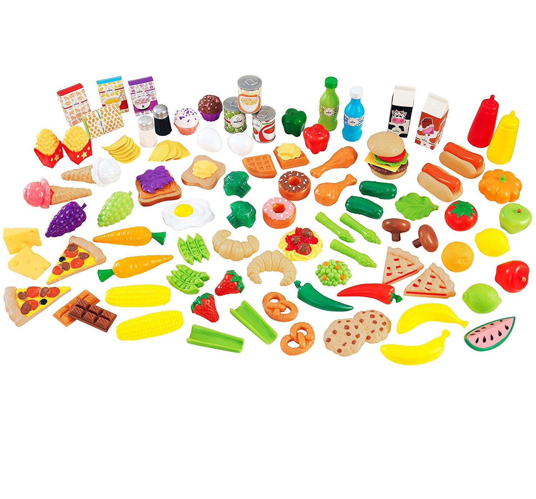 Набор игровой еды - Вкусное удовольствие, 115 элементовАксессуары и техника для детской кухни<br>Набор игровой еды - Вкусное удовольствие, 115 элементов<br>