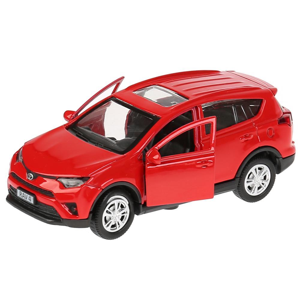 Купить со скидкой Металлическая инерционная машина - Toyota Rav4, красный, длина 12 см