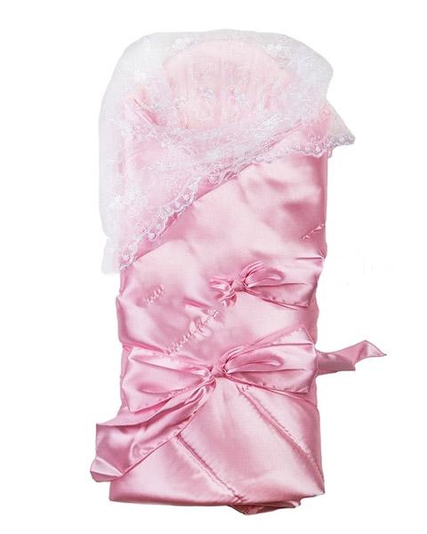 Комплект на выписку – Воздушный, весна - Э2004, розовыйДетские Конверты<br>Комплект на выписку – Воздушный, весна - Э2004, розовый<br>