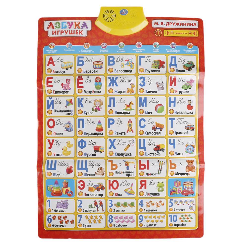 Купить Говорящий плакат - Азбука игрушек sim), Умка
