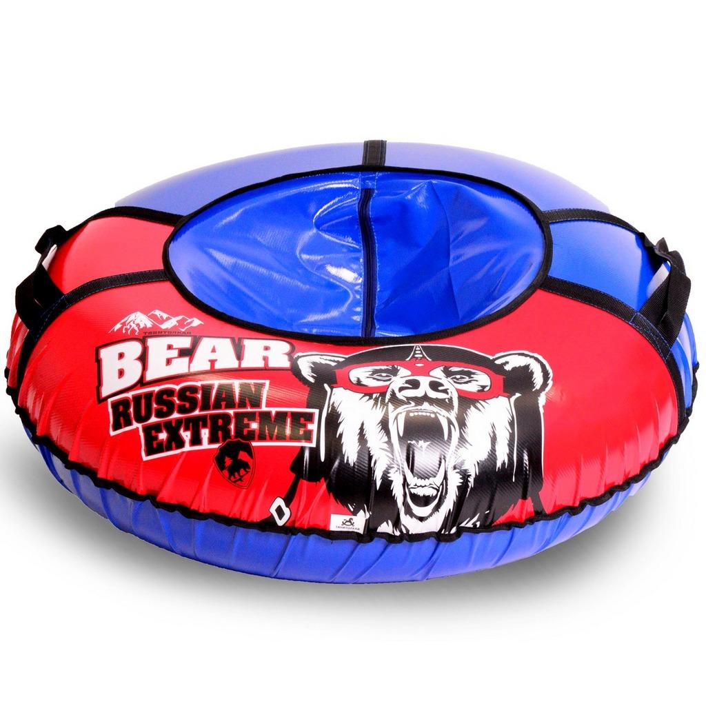Санки надувные Тюбинг - Russian Extreme Bear, автокамера, диаметр 107 см.