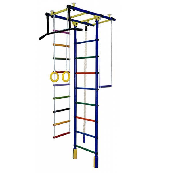 Купить Детский спортивный комплекс – Атлант, синий/радуга, Формула здоровья