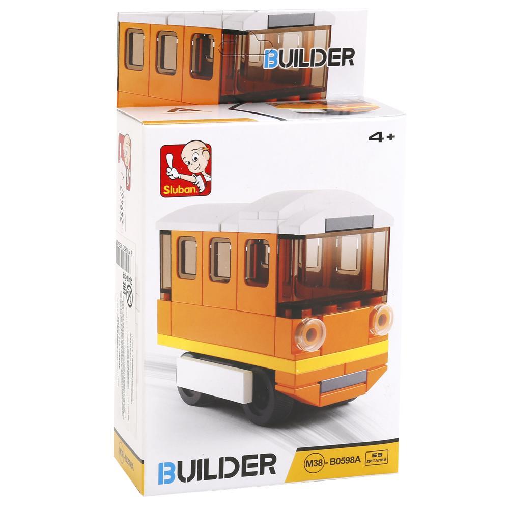 Купить Конструктор - Трамвай, 59 деталей, Sluban
