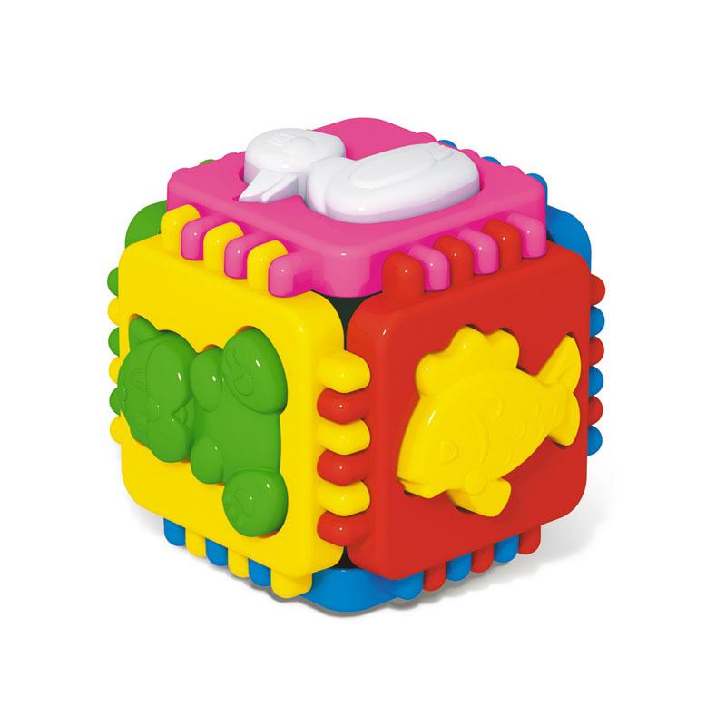 Логический куб «Весёлые зверята»Сортеры, пирамидки<br>Логический куб «Весёлые зверята»<br>