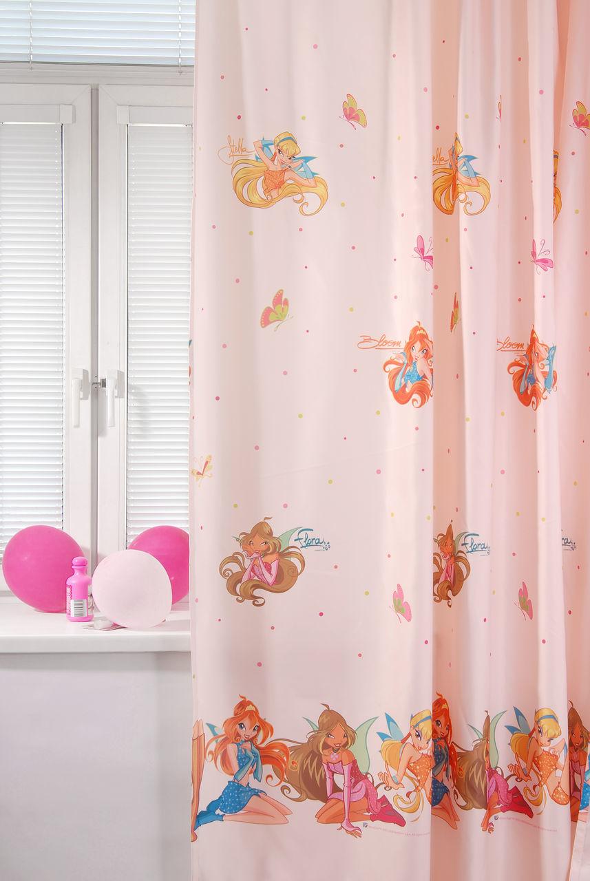 Портьера детская - Winx, персиковыйДекор и хранение<br>Портьера детская - Winx, персиковый<br>