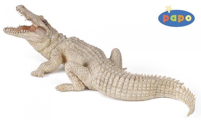 Игровая и коллекционная фигурка - Белый крокодилДикая природа (Wildlife)<br>Игровая и коллекционная фигурка - Белый крокодил<br>