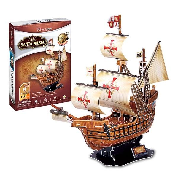 картинка 3D-пазл - Корабль Санта Мария от магазина Bebikam.ru
