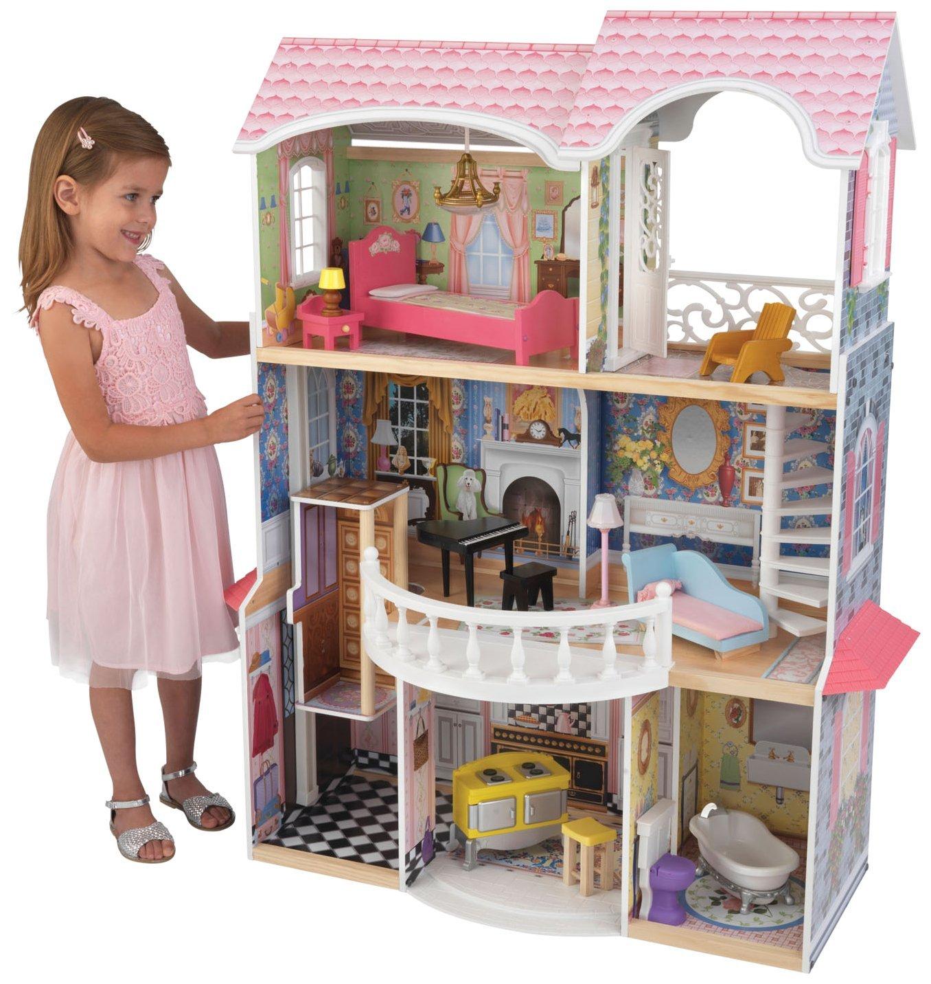 Винтажный кукольный дом для Барби Magnolia – Магнолия, с мебелью, 13 предметовКукольные домики<br>Винтажный кукольный дом для Барби Magnolia – Магнолия, с мебелью, 13 предметов<br>