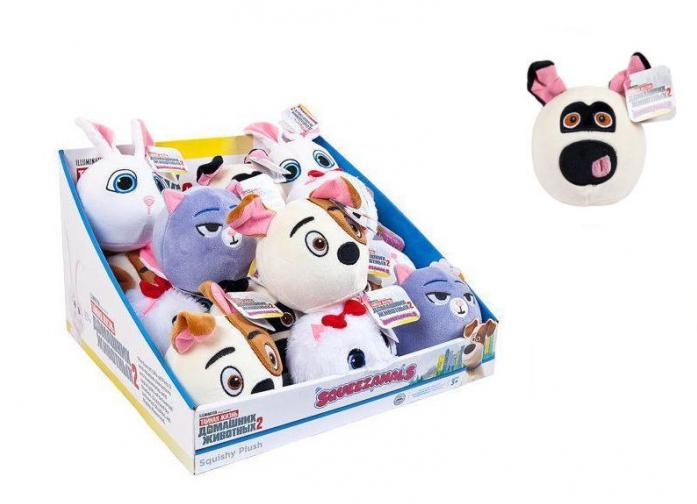 Купить Squeezamals, серия Тайная жизнь домашних животных 2, мопс, 9 см, Beverly Hills Teddy Bear