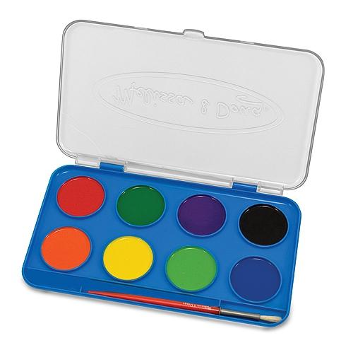 Набор акварельных красок с кисточкой, 8 цветовКраски<br>Набор акварельных красок с кисточкой, 8 цветов<br>