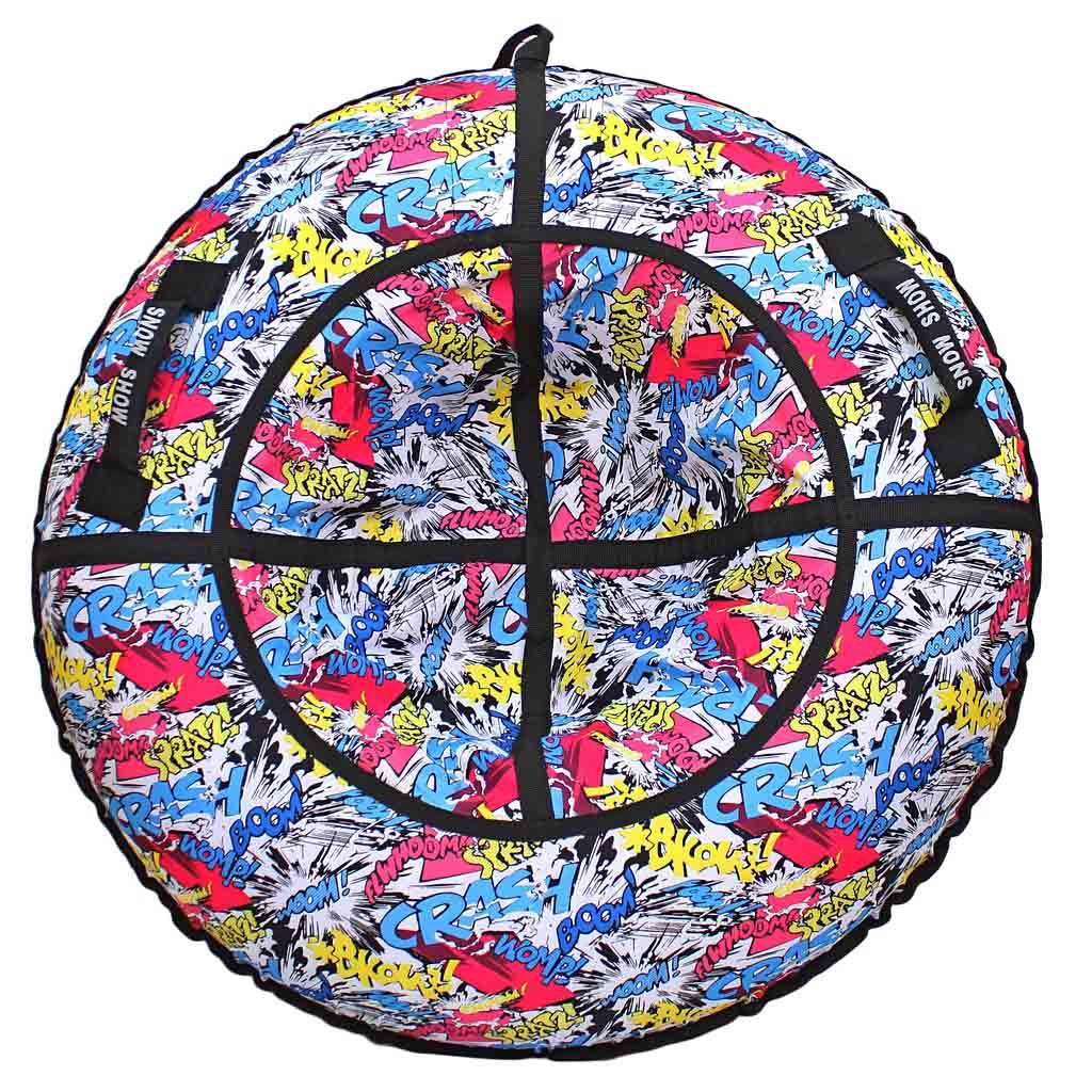 Санки надувные – Тюбинг, комиксы Boom, диаметр 118 смВатрушки и ледянки<br>Санки надувные – Тюбинг, комиксы Boom, диаметр 118 см<br>