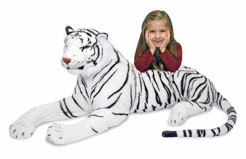 Купить Мягкая игрушка Белый тигр , 170 х 51 см., Melissa&Doug