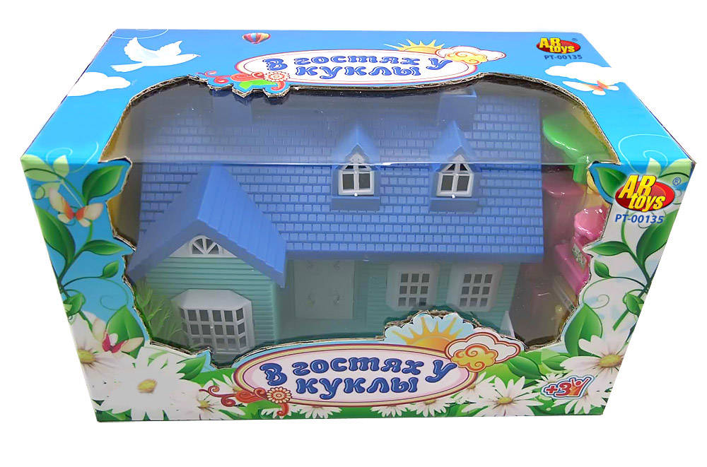 Купить Игрушечный кукольный домик «В гостях у куклы», с дополнительными аксессуарами, Rinzo