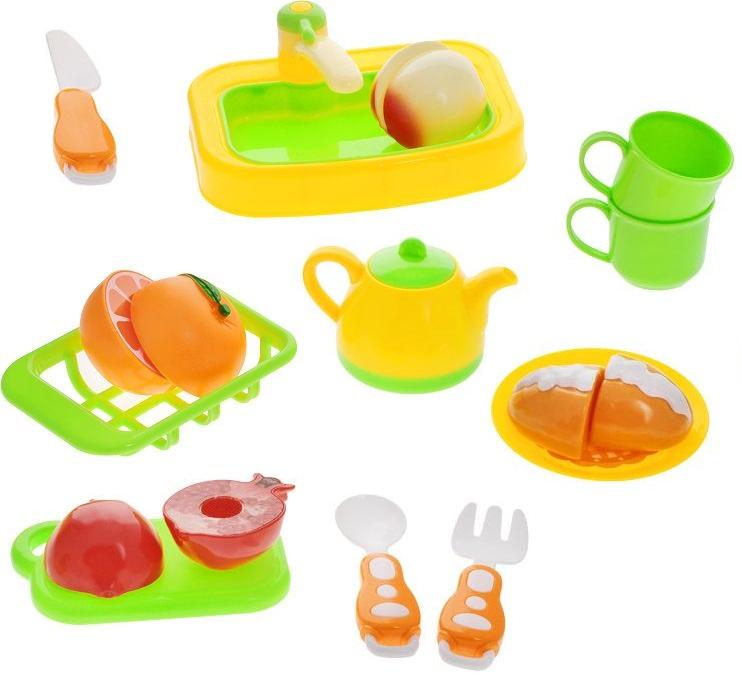 Набор посудки и продуктов «Помогаю Маме», 18 предметовАксессуары и техника для детской кухни<br>Набор посудки и продуктов «Помогаю Маме», 18 предметов<br>