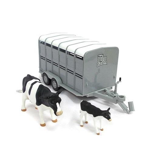Трейлер для перевозки животных с коровой и теленкомТрейлеры<br>Трейлер для перевозки животных с коровой и теленком<br>