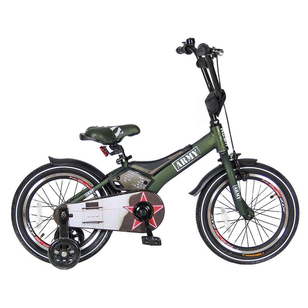 Двухколесный велосипед Rush Army, диаметр колес 16 дюймов, хакиВелосипеды детские<br>Двухколесный велосипед Rush Army, диаметр колес 16 дюймов, хаки<br>