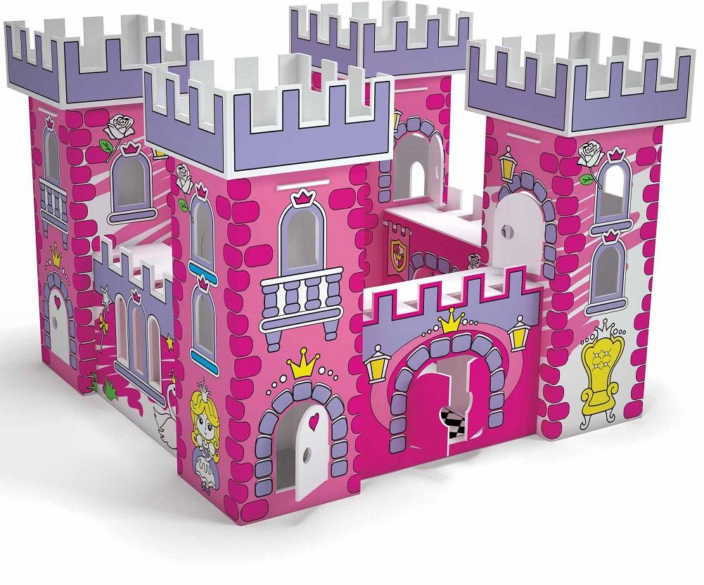 Домик игровой для раскрашивания - Замок ПринцессыЗамки, рыцари, крепости, пираты<br>Домик игровой для раскрашивания - Замок Принцессы<br>