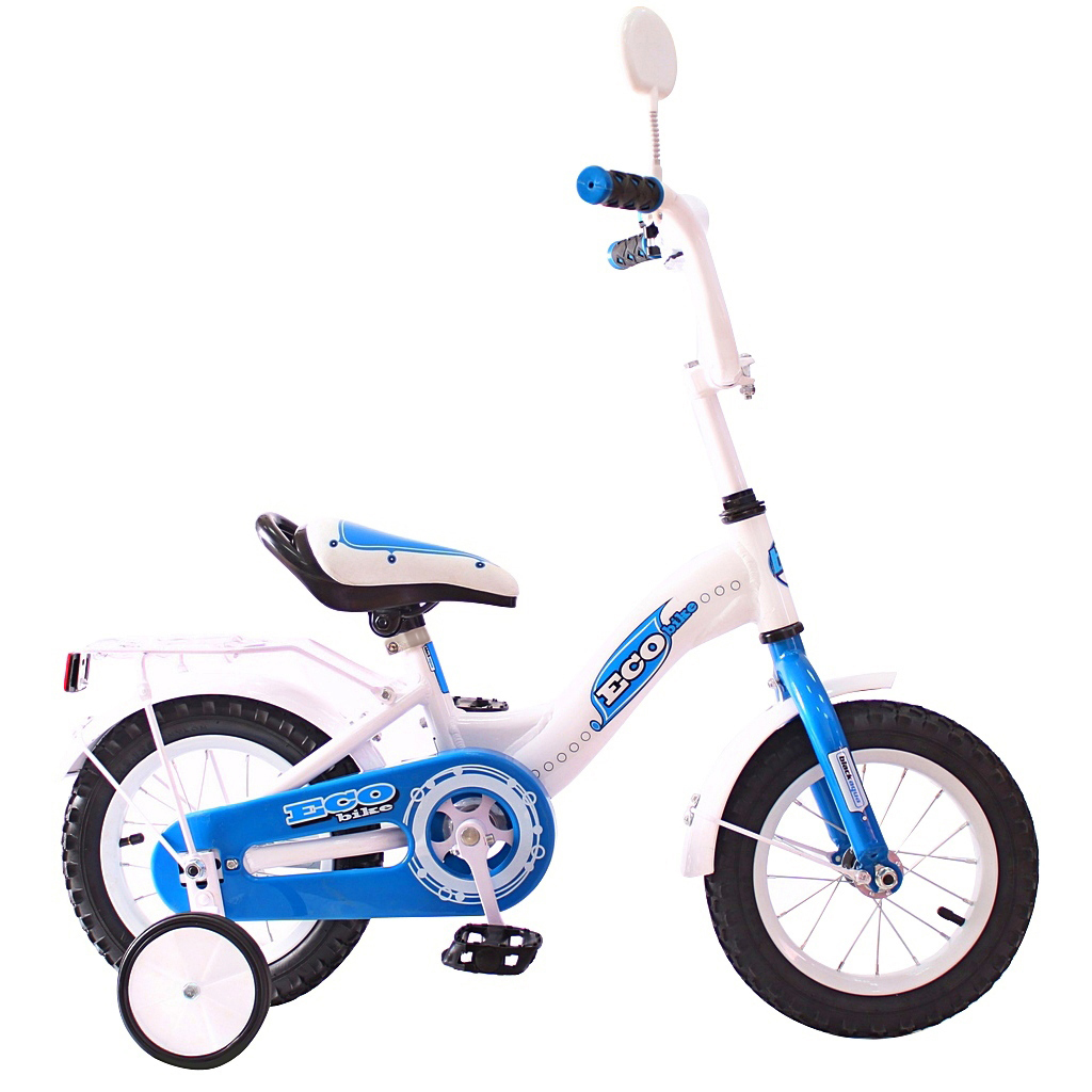 RT Двухколесный велосипед Aluminium Ecobike, диаметр колес 12 дюймов, голубой