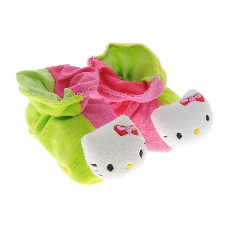 Тапочки-погремушки Hello KittyДетские погремушки и подвесные игрушки на кроватку<br>Тапочки-погремушки Hello Kitty<br>