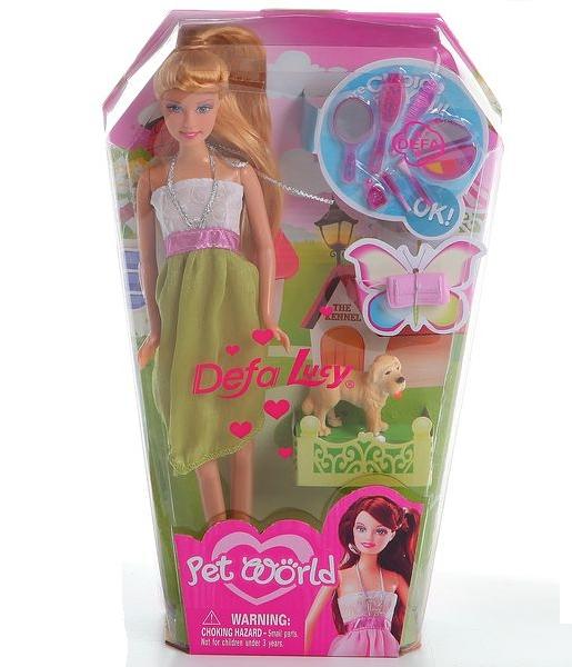 Купить Кукла Defa с собакой и аксессуарами, 29 см, Defa Lucy