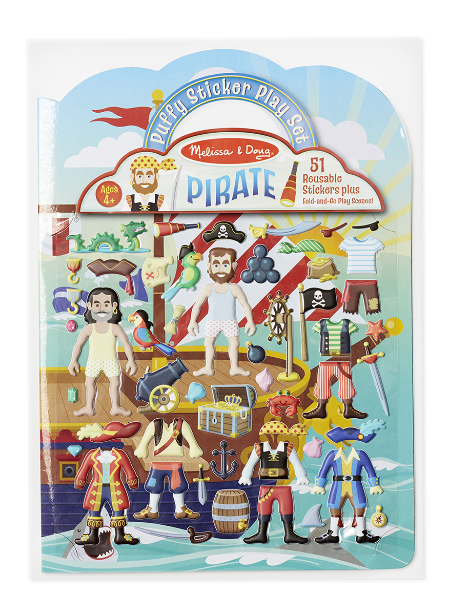 картинка Набор стикеров «Пираты» с фоновыми картинками от магазина Bebikam.ru