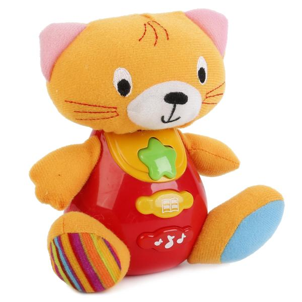 Купить Обучающая игрушка - Кот, 10 стихотворений и мелодий, свет и звук, Умка