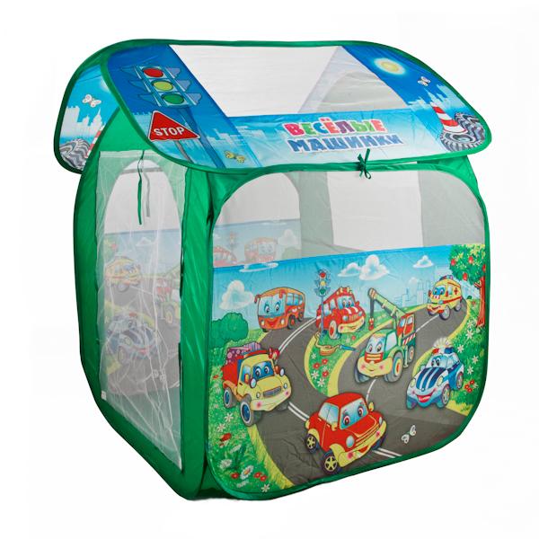 Детская игровая палатка Веселые машинкиДомики-палатки<br>Детская игровая палатка Веселые машинки<br>