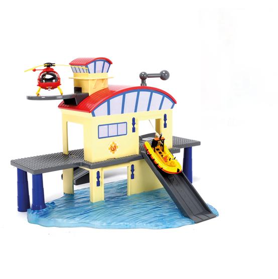 Купить Морской гараж и лодка из серии «Пожарный Сэм», Dickie Toys