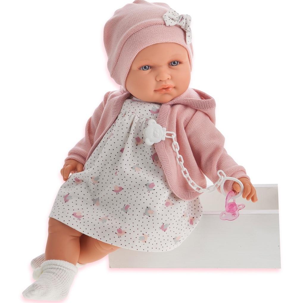 Кукла Роза в розовом, 55 см, плачетКуклы Антонио Хуан (Antonio Juan Munecas)<br>Кукла Роза в розовом, 55 см, плачет<br>
