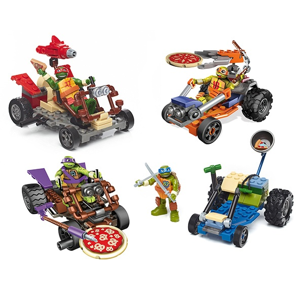 Купить Набор Mattel Mega Construx - Черепашки Ниндзя - Лихие гонщики