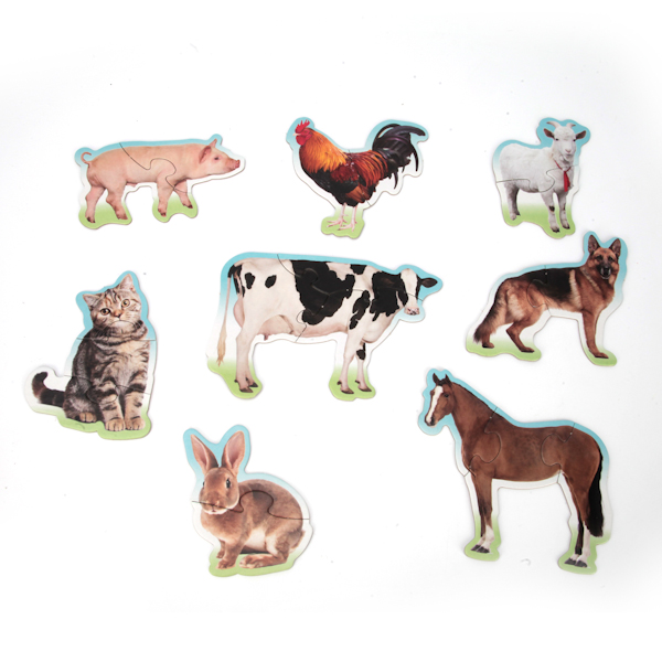 Макси-пазлы - Домашние животные, 8 развивающих картинокПазлы для малышей<br>Макси-пазлы - Домашние животные, 8 развивающих картинок<br>