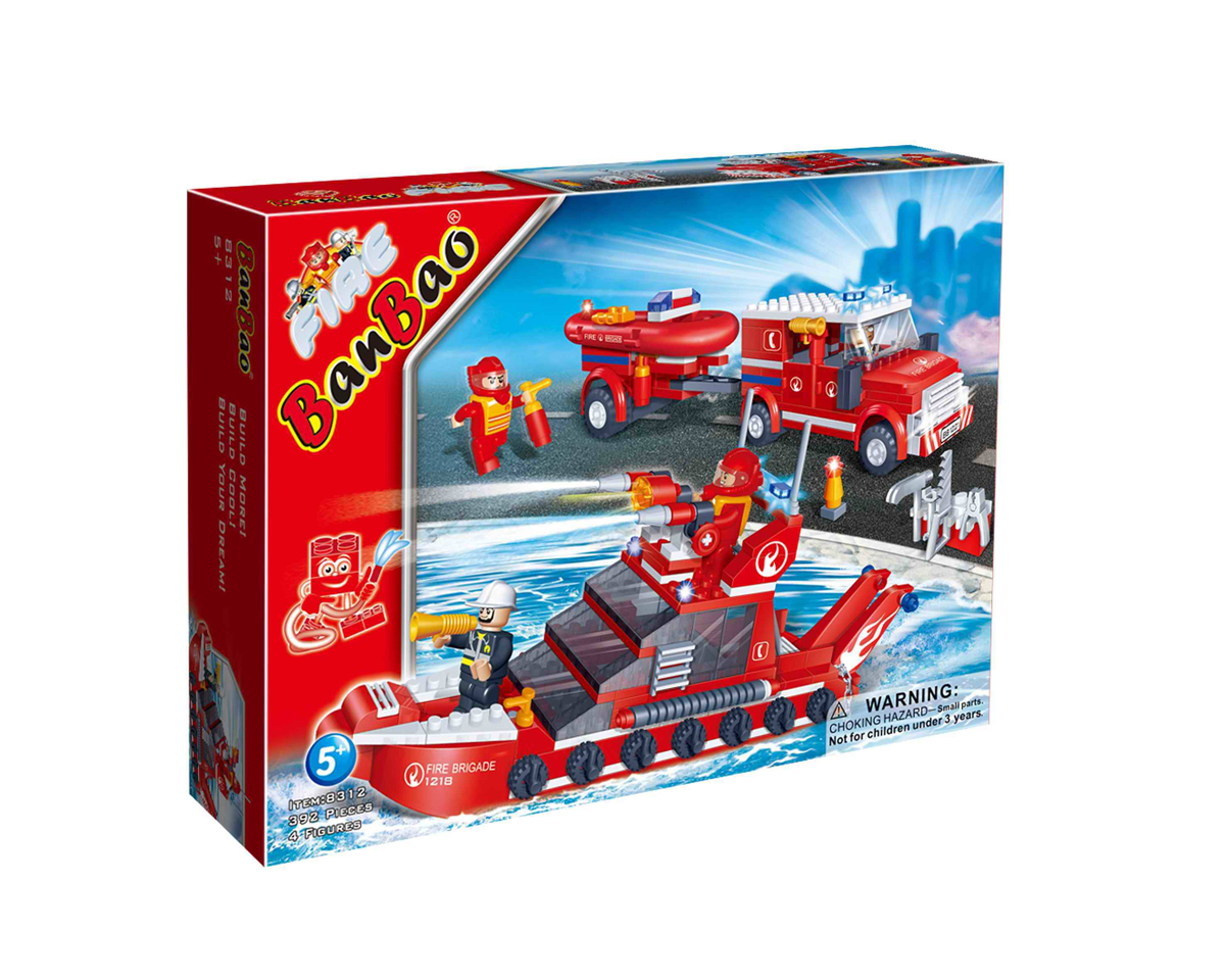 Купить Развивающий конструктор - Пожарная команда, BanBao