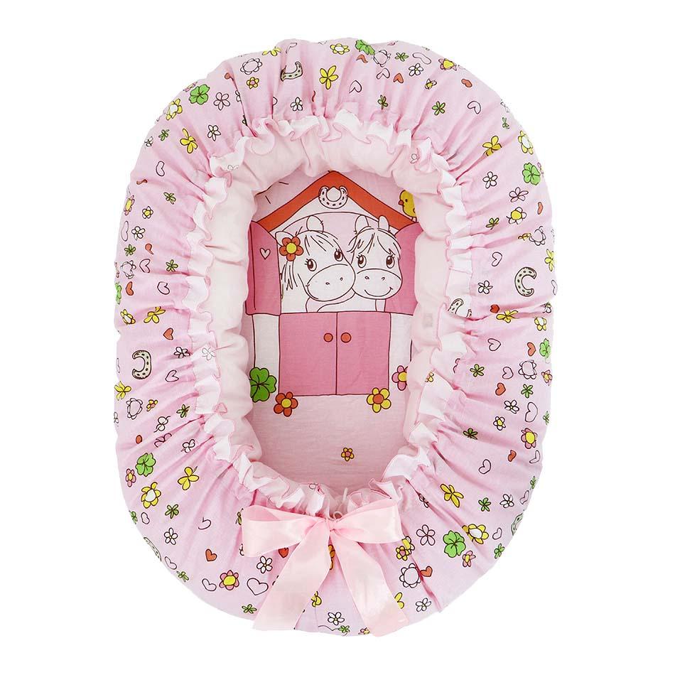 Подушка-валик 4 в 1 - Лошадка, розовый фото