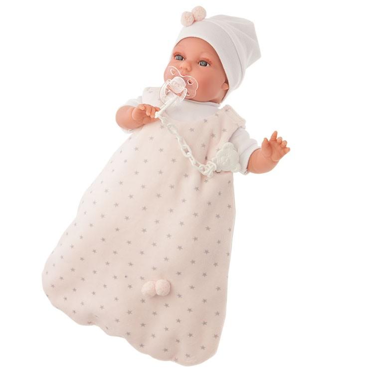 Озвученная кукла Самбора в розовом, 34 смКуклы Антонио Хуан (Antonio Juan Munecas)<br>Озвученная кукла Самбора в розовом, 34 см<br>