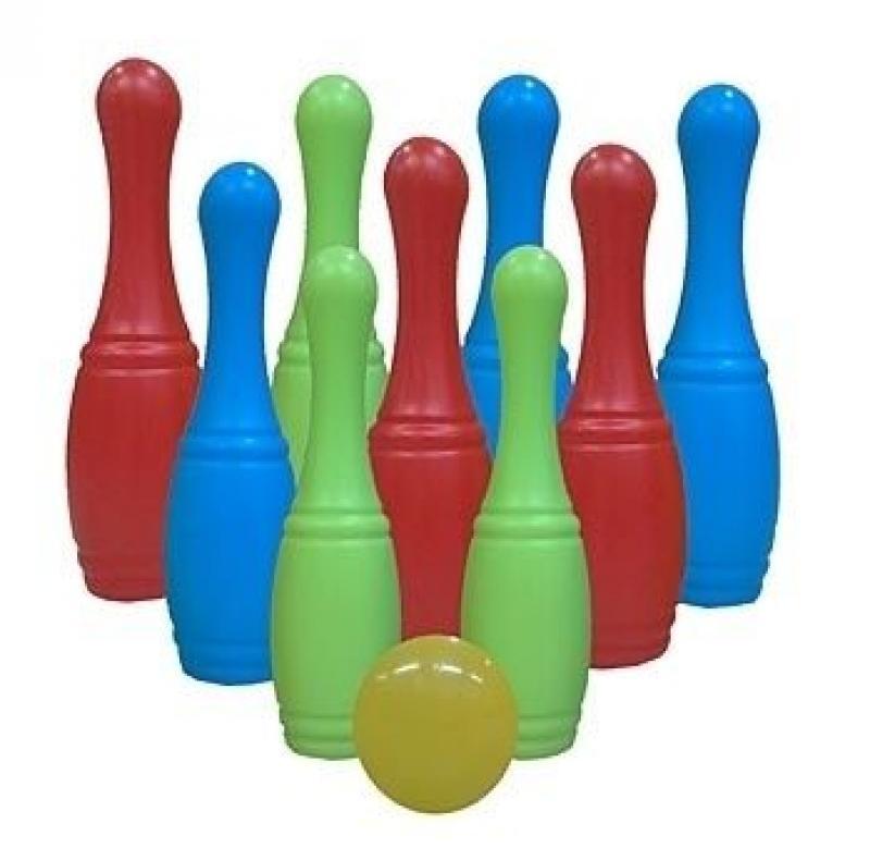 Набор для боулинга – 9 кеглей с мячом, в сеткеБоулинг и кегли<br>Набор для боулинга – 9 кеглей с мячом, в сетке<br>