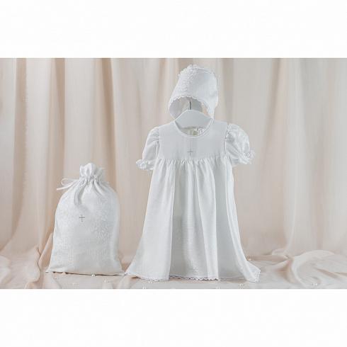 Крестильный набор для девочки – Муза, 3 предмета, 3-6 месяцев