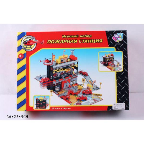 Набор игровой – Пожарная станция, с машинками и аксессуарами