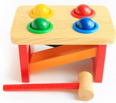 Развивающая игрушка - Стучалка с горкой и шарикамиСтучалки и сортеры<br>Развивающая игрушка - Стучалка с горкой и шариками<br>